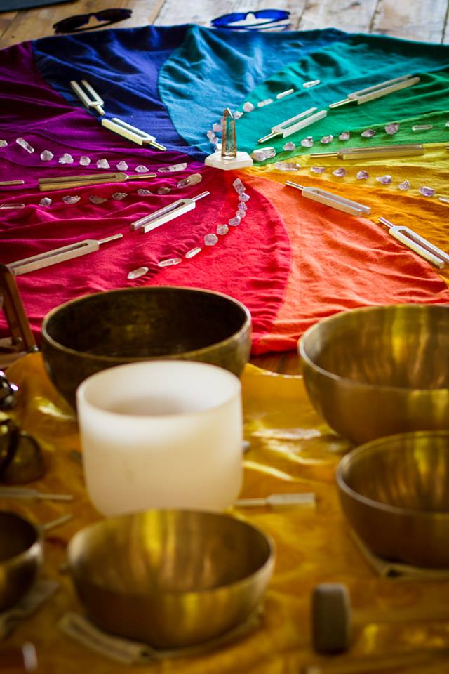 sound healing crystal bowl ceremony